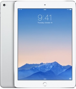 Планшет APPLE iPad Air 2 16Gb Wi-Fi Silver MGLW2RU/A A8X/2048Mb/16Gb/Wi-Fi/Bluetooth/Cam/9.7/2048x1536/iOS - фото